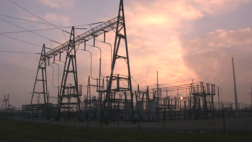 Power Substation Time Lapse - HD stock video clip