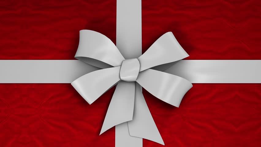 Ribbon unties itself and the present box opens up to reveal your footage or image. Alpha matte footage included