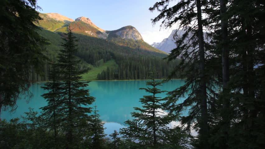 Pristine Emerald Lake, Yoho National Park, British Columbia, Canada, dolly shot | Shutterstock HD Video #1010482