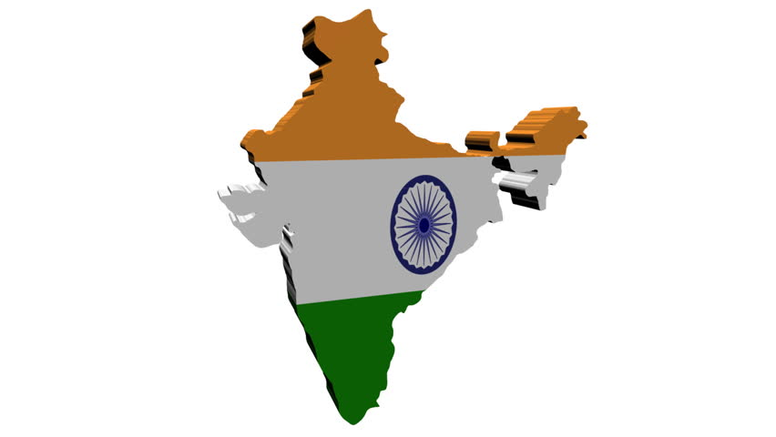 For Indian Flag Hd Animation: Increasing Crowd Demonstrating On India Map Flag Animation
