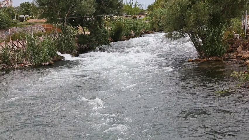 Waterfall Duden at Antalya, Turkey - nature travel - HD stock footage clip
