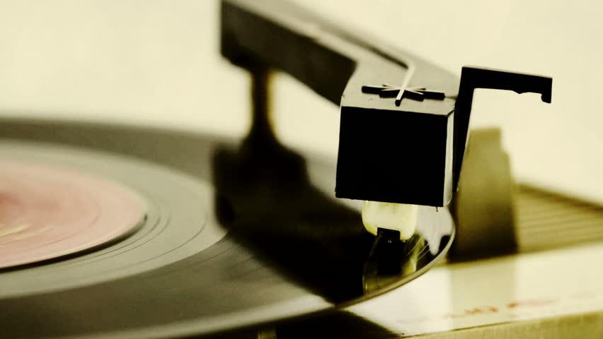retro record player - HD stock footage clip
