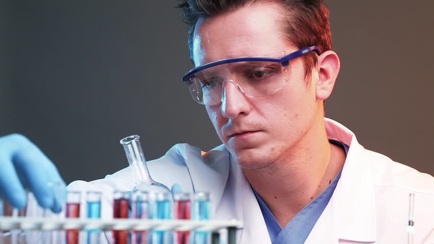 Scientist finding a cure - HD stock video clip