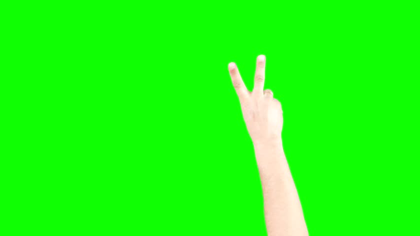 Counting And Thumbs Up Hand On Green Screen Chroma Key (Good For Web Designers, Web Developers And Youtubers)