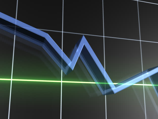 Losing Value Graph NTSC - SD stock footage clip