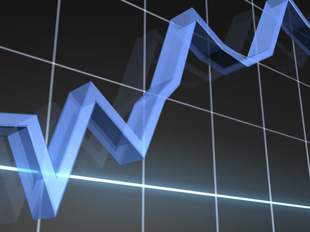 Rising Markets Chart PAL - SD stock footage clip