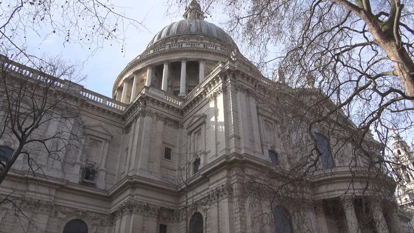 Saint Paul Victorian Architecture In England Skyline Stock Video
