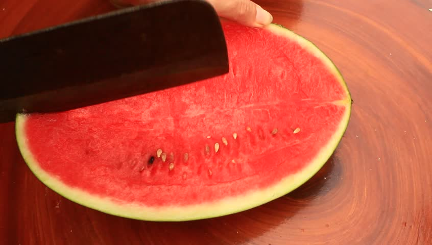 how to cut a watermelon into sticks video