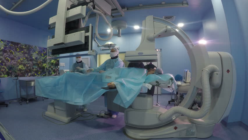 ... Angiographic surgery: Angiography operation (general plan,static shot) - Part 4 -