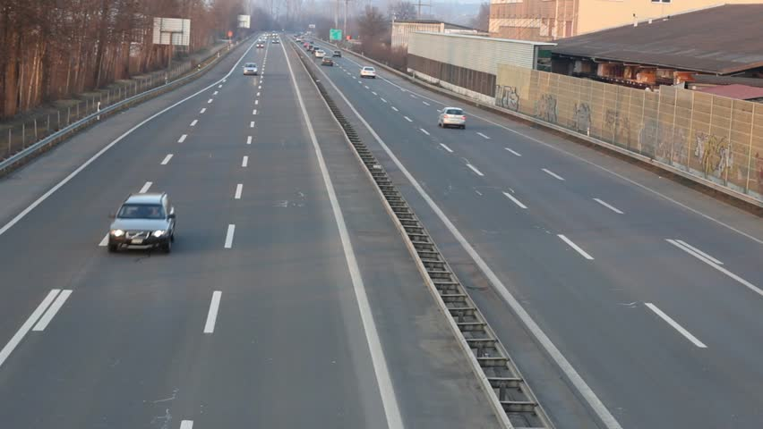 highway traffic - HD stock footage clip