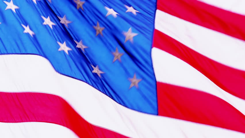 United States flag waving - 4K stock footage clip
