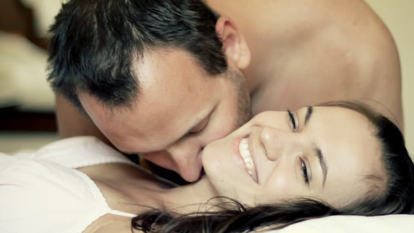 Man kissing beautiful woman - HD stock footage clip