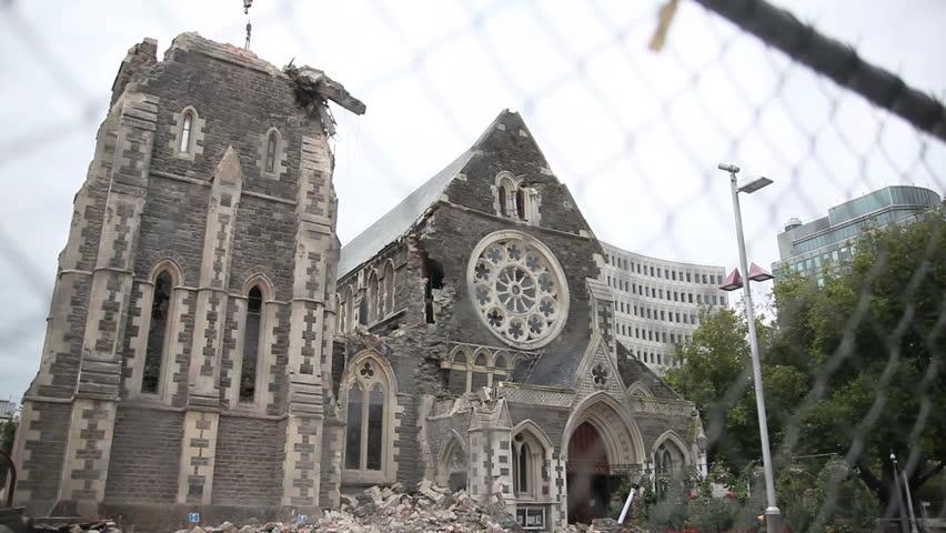 Christchurch Hd: FEB 26: News Crews Shoot The