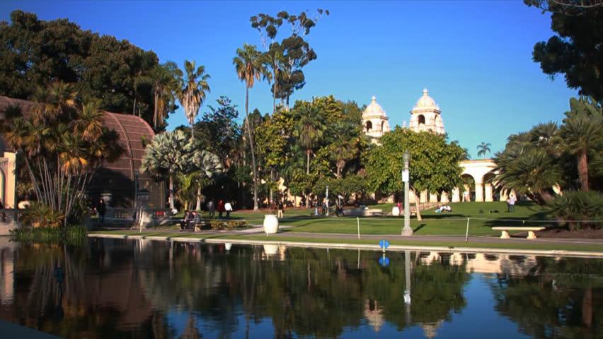 Balboa Park Church San Diego California Stock Footage