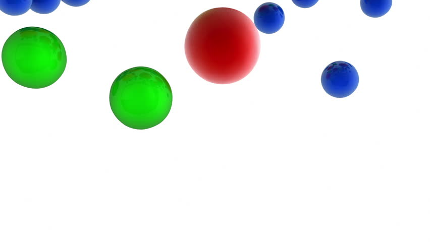 3d TV with falling balls - HD stock footage clip