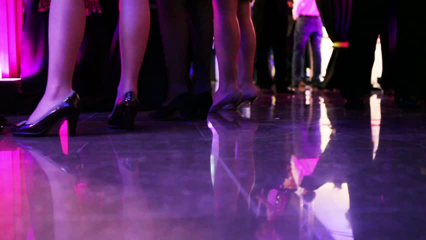 legs of people on a smart luxury party - HD stock footage clip