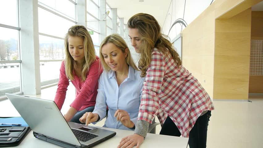 Students and teacher in training course | Shutterstock HD Video #1084714