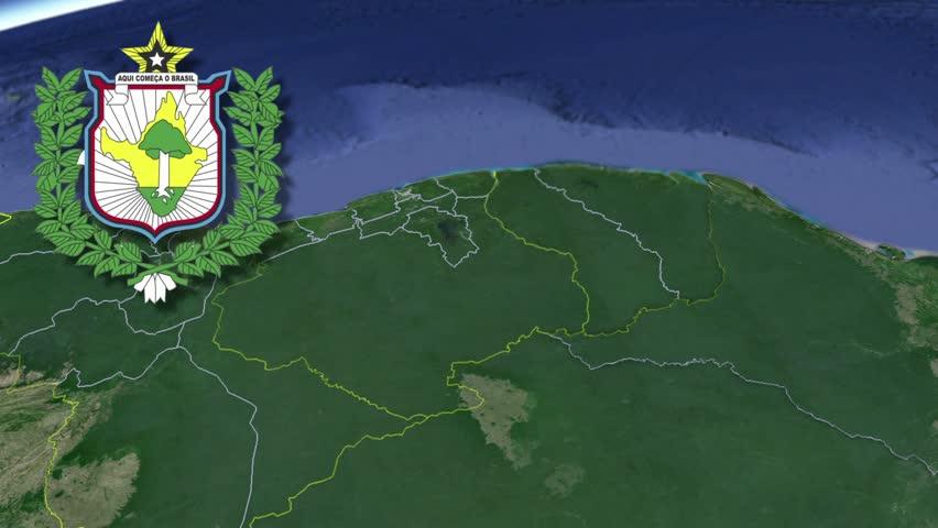 Amapa? white Coat of arms animation map States of Brazil Amapa? white Coat of arms animation map