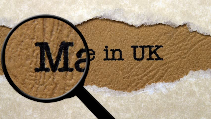 Magnifying glass on made in UK
