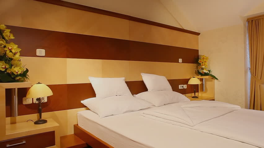Hotel room - HD stock video clip