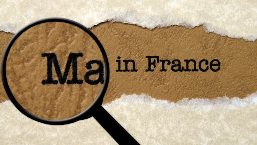 Magnifying glass on made in France