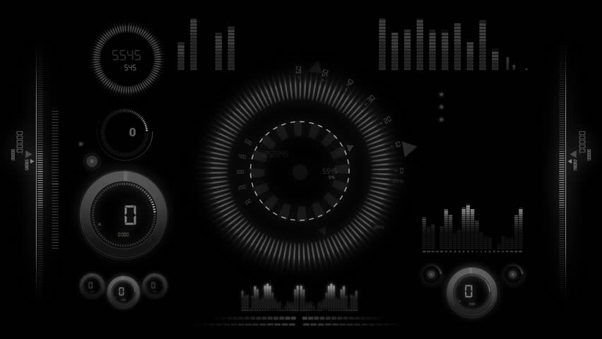 Hitech interface animation