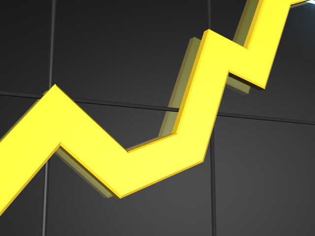 Rising Yellow Line Chart PAL