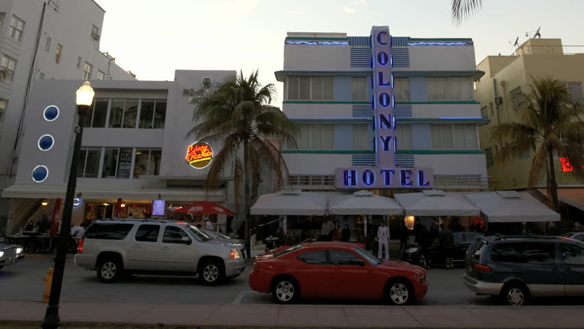 MIAMI BEACH, FLORIDA - FEBRUARY 13: in this time-lapse view cars travel on Ocean