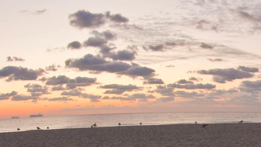 Miami Beach sunrise timelapse - HD stock footage clip
