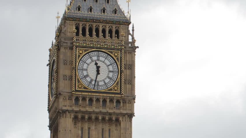 timelapse of big ben, in london, - HD stock video clip