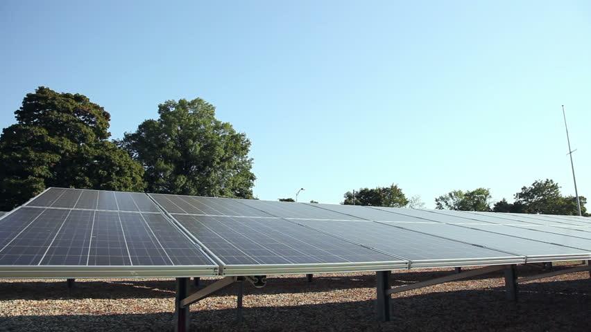 Solar Panels. Alternative Energy. - HD stock footage clip