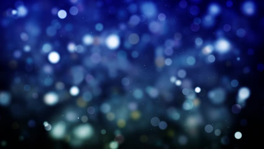 High quality royalty free stock footage and visuals featuring blue and green blurred bokeh orb shaped particle motion background.