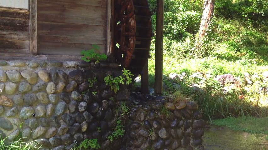 wood water wheel