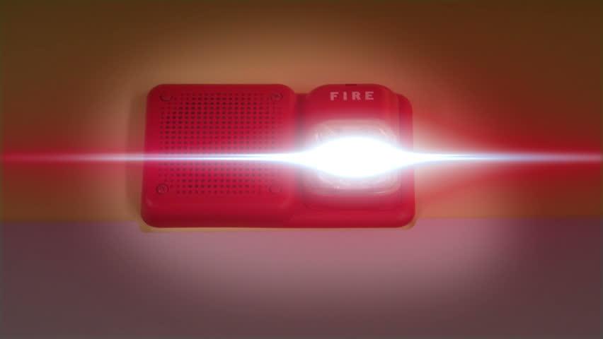 Fire Alarm Ringing and Flashing with Camera Shake