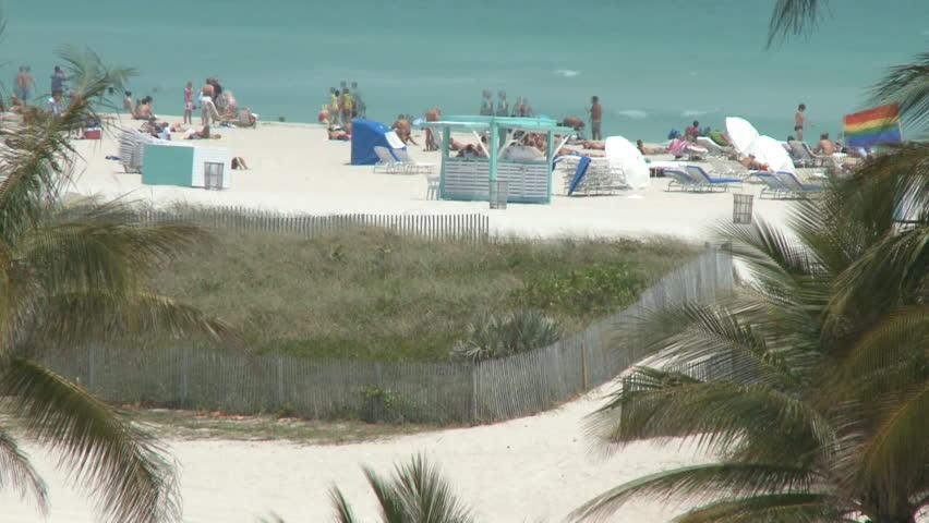 Miami Beach  - Time Lapse - HD stock footage clip
