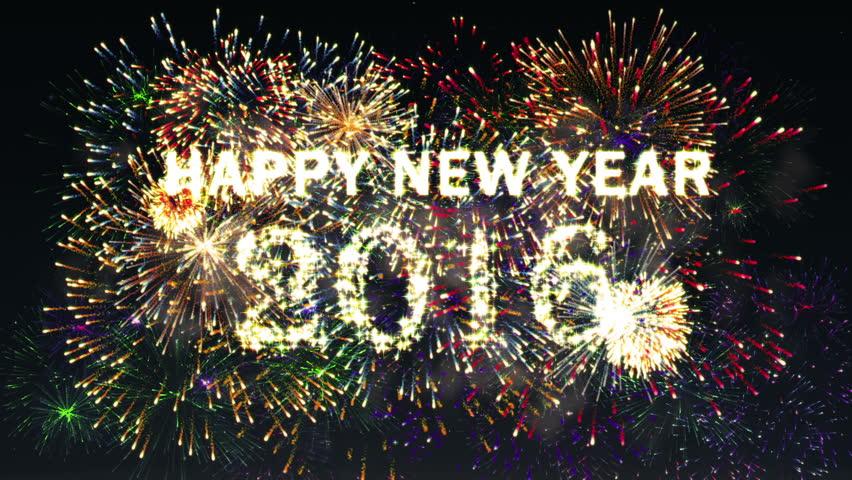 Fireworks Happy new year 2016
