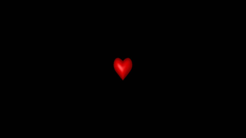 Exploding red heart Animation with alpha - HD stock video clip