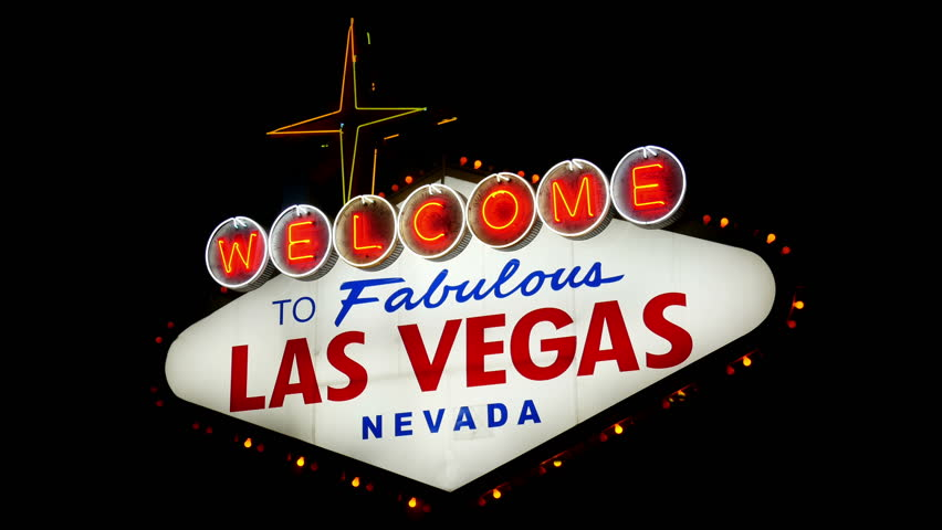 Welcome to Fabulous Las Vegas Nevada Sign (Loopable)