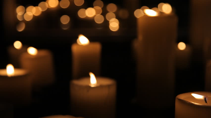 Candles go out - HD stock footage clip