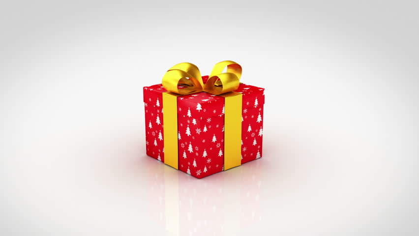 Colorful christmas gifts. 3D animation of 6 different Christmas gift boxes with nice ribbons opening.
