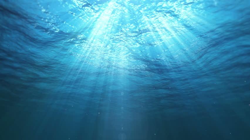 Underwater Sun Rays in the Ocean (Loop)