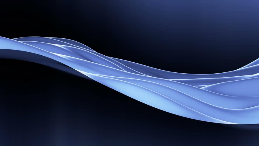 Blue Cloth Waving, seamless loop