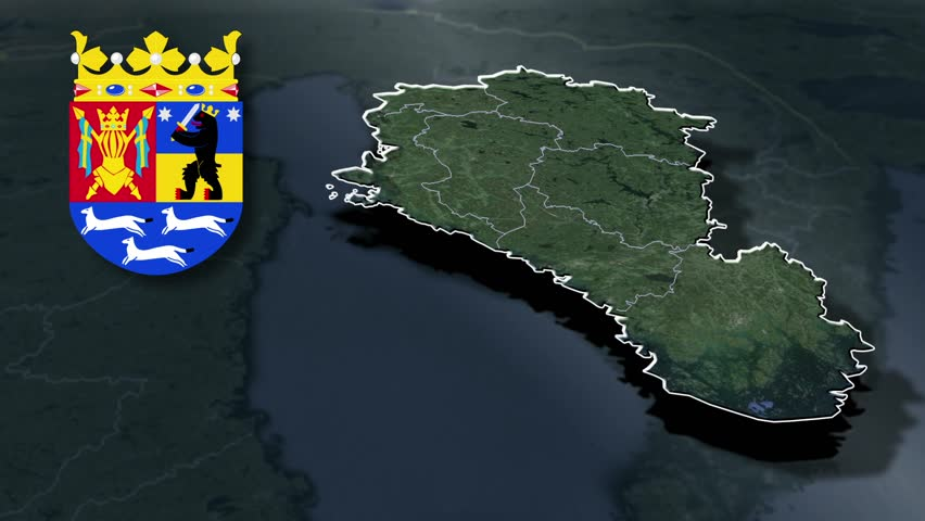 Western Finland whit Coat of arms animation map