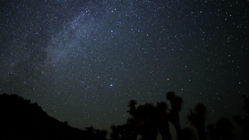 Milky Way Galaxy Time Lapse 01 Pan R Mojave Desert ...