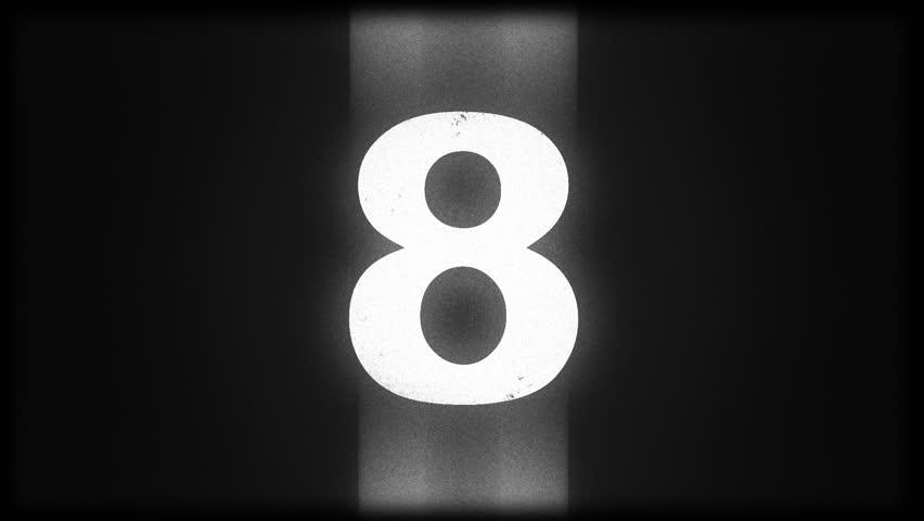 Old film countdown leader