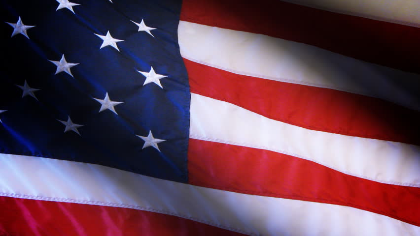 Highly detailed American flag ripples in the wind with perfect style.Detail includes stitching and star threading, fabric texture and depth of field.Looped for continuous playback. HD 1080