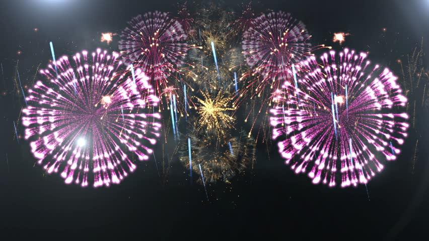 Beautiful Fireworks Explosion 4k Stock Footage Video