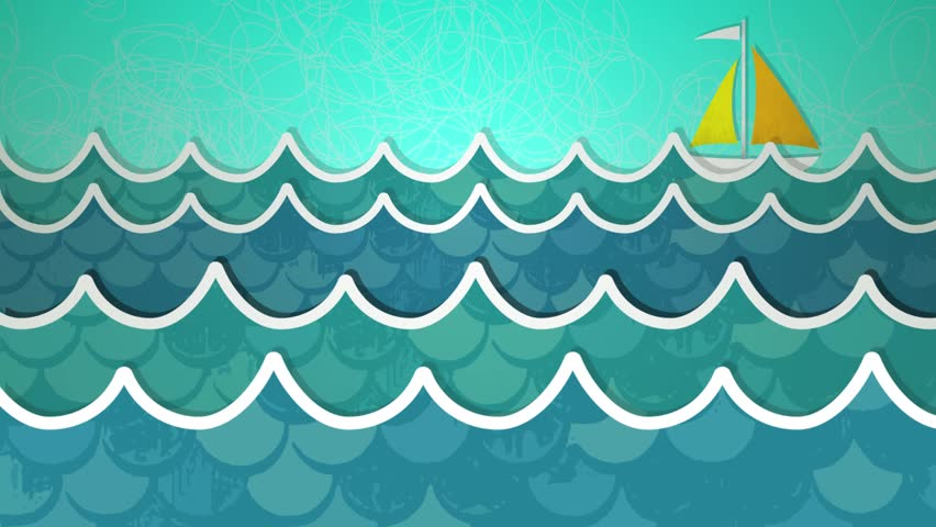 Dynamic graphic animation using paper cutout styled elements to illustrate an