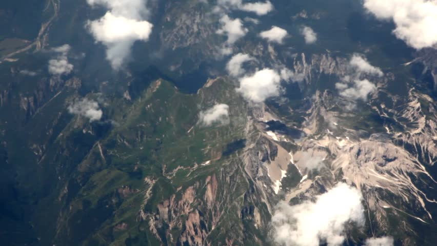 plane clouds and mountains - photo #11