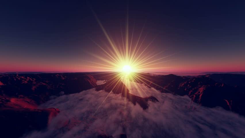 sunrise - HD stock footage clip